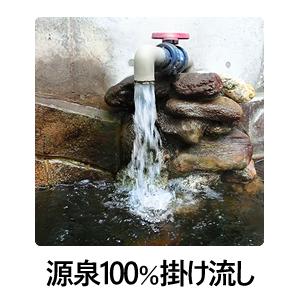 源泉掛け流し100%のモール温泉